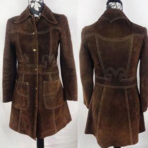 Jackets & Blazers - Vintage 1968  suede coat sz SP